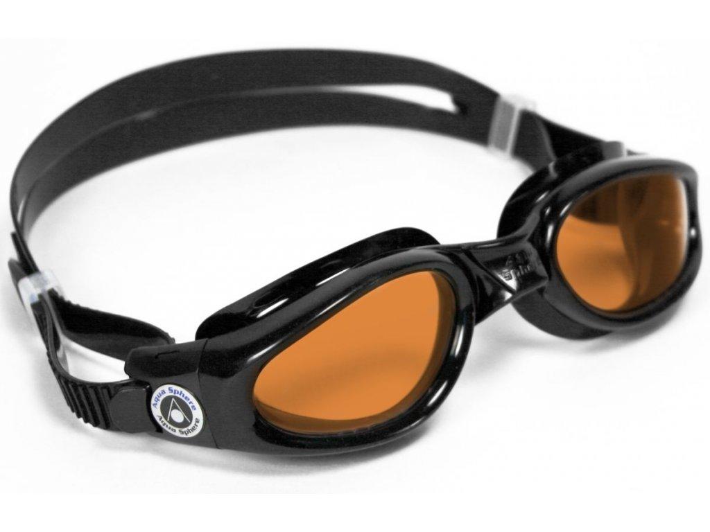 Aqua Sphere plavecké brýle Kaiman žlutý zorník černá