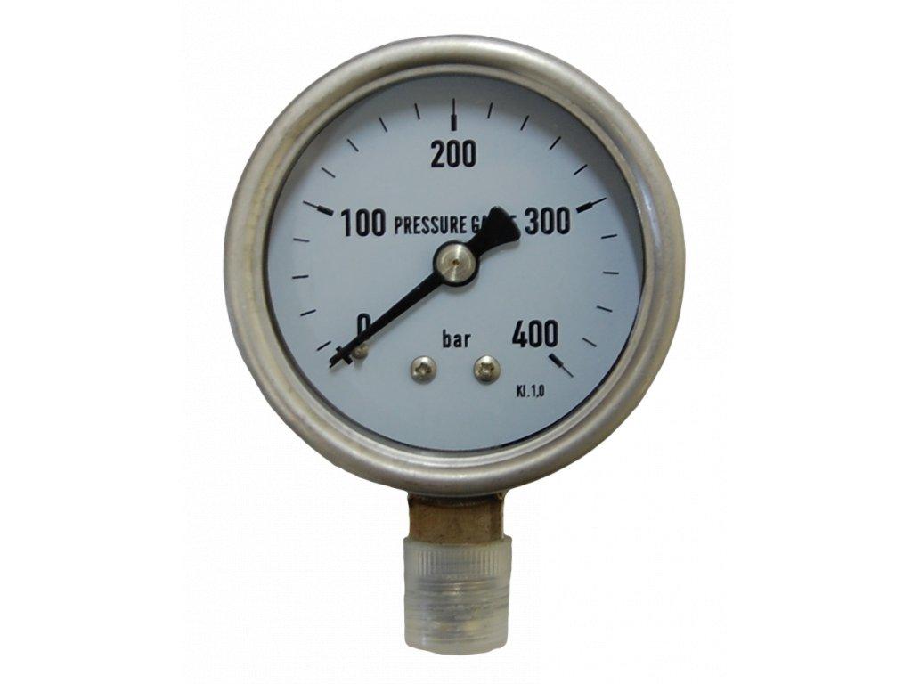JTLine manometr průměr 63mm, stupnice 400 bar, nerez, odchylka 1%