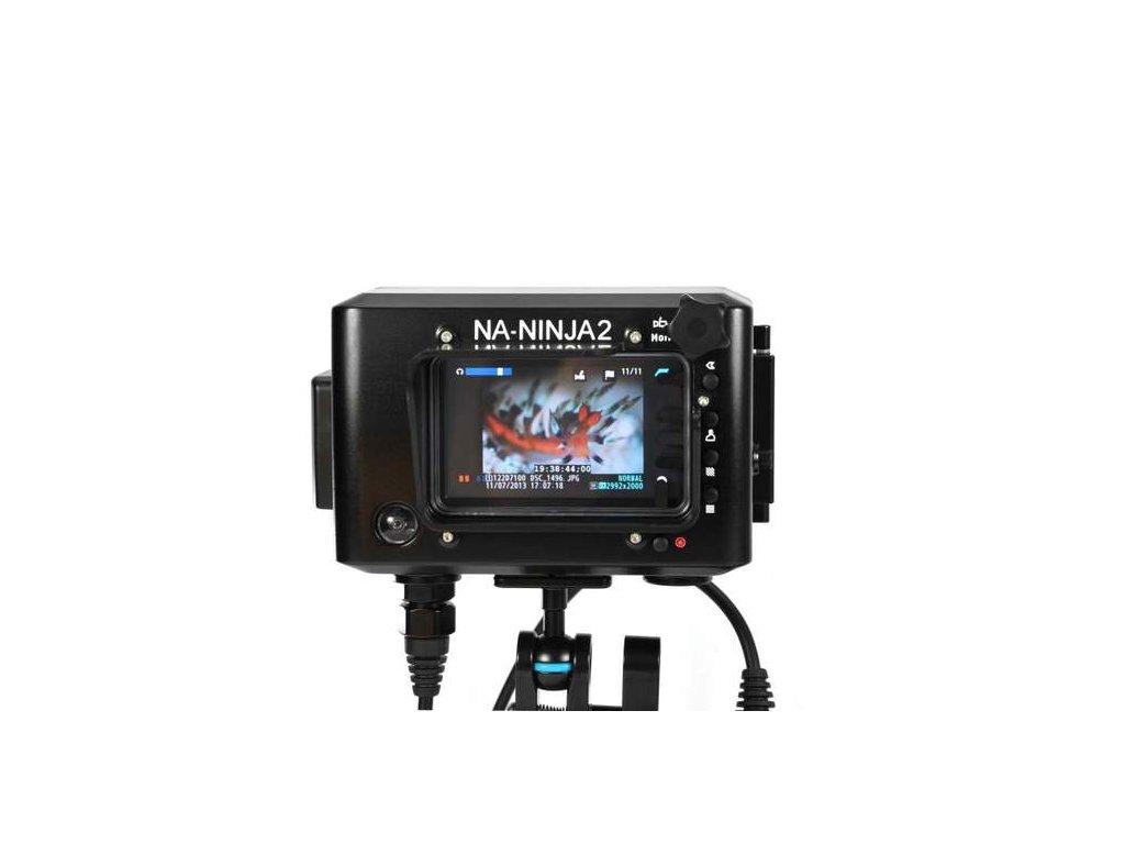 Nauticam NA-Ninja2 housing for AtomOS Ninja-2 field recorder with HDMI bulkhead and cables