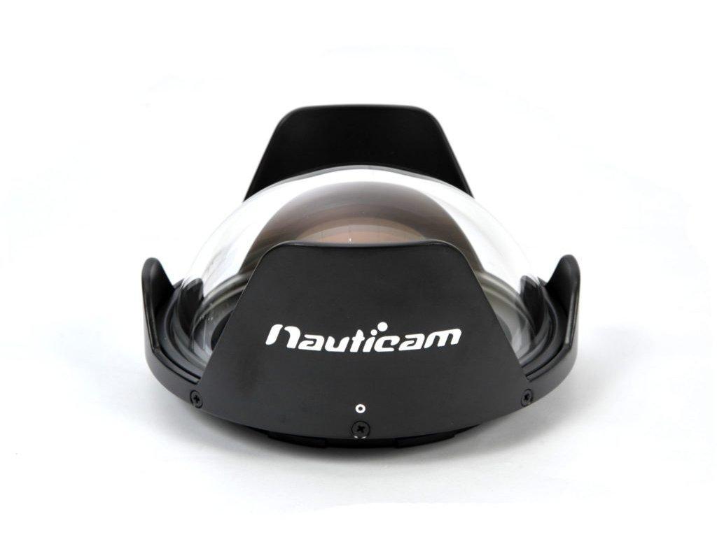 Nauticam N120 140mm optical glass fisheye port with removable shade