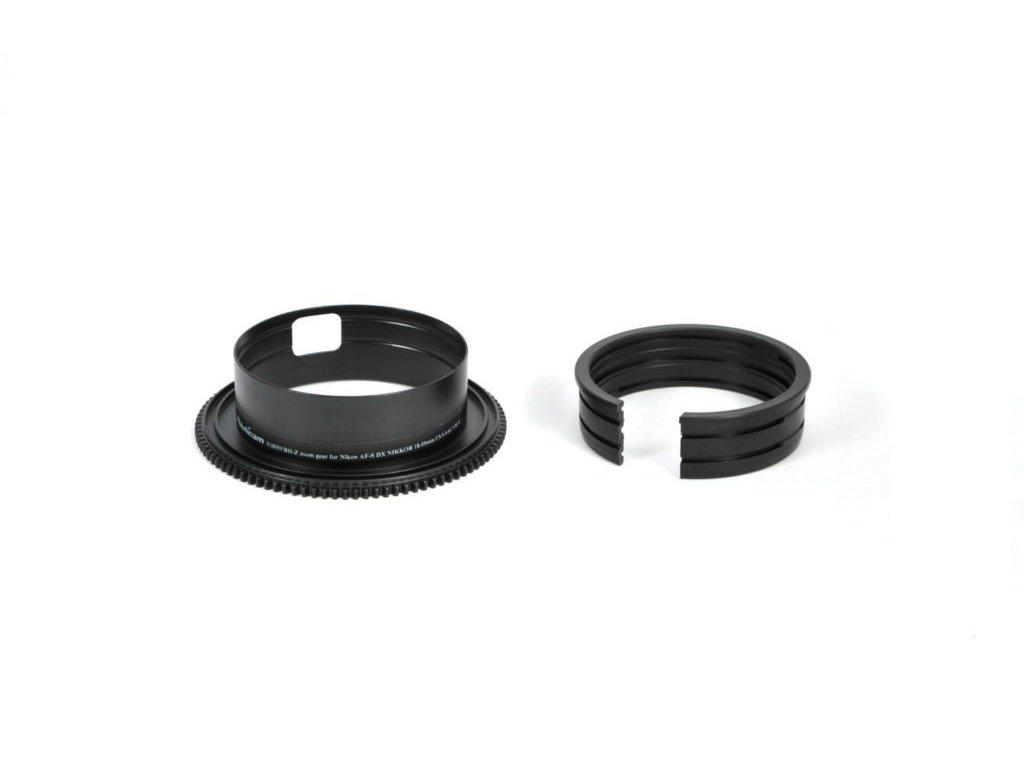 Nauticam N1855VRII-Z zoom gear for Nikon AF-S DX NIKKOR 18-55mm f/3.5-5.6G VR II