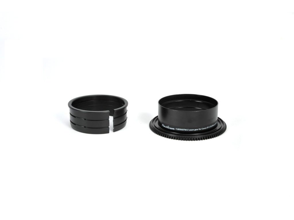 Nauticam C1855ISSTM-Z zoom gear for Canon EF-S 18-55mm f/3.5-5.6 IS STM
