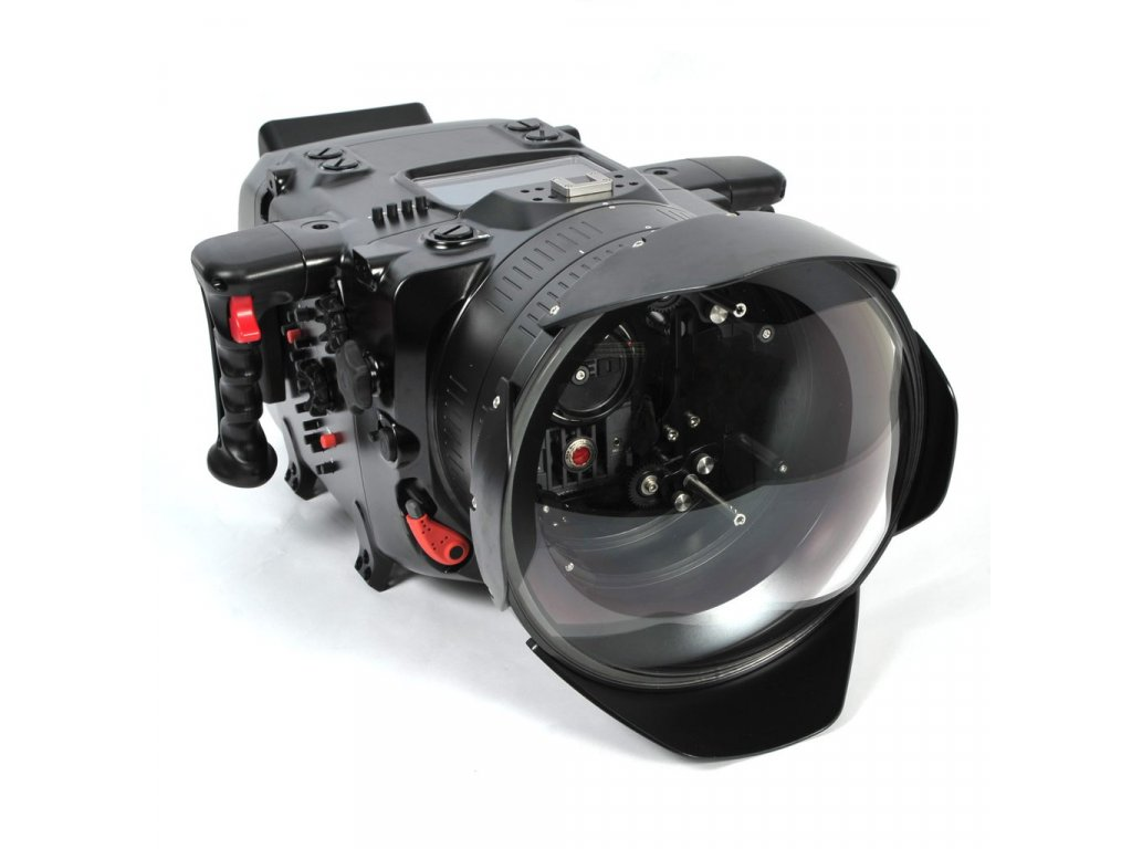 Nauticam Digital Cinema System for Red Epic & Scarlet (N200 Port for PL Lenses, RedTouch 7, includes N200 250mm optical glass wide angle port, N200 extension rings 30, 40 and 50, and lens control drive shafts)