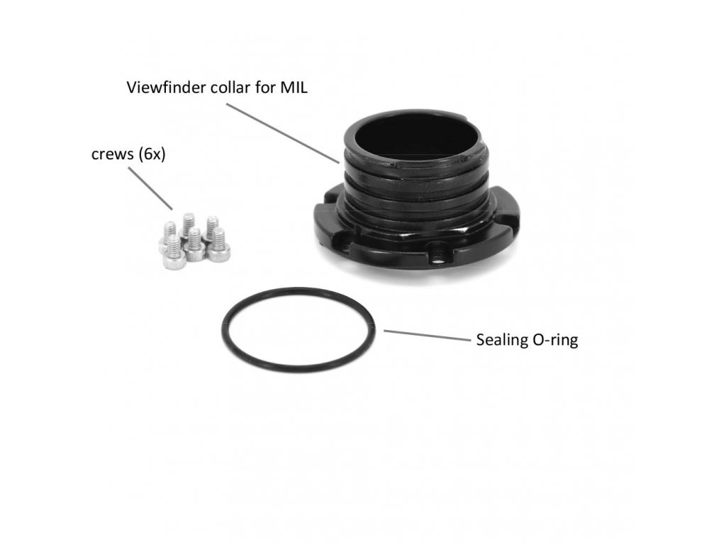 Nauticam Viewfinder collar for MIL housing (from SN A153408, A153664 )