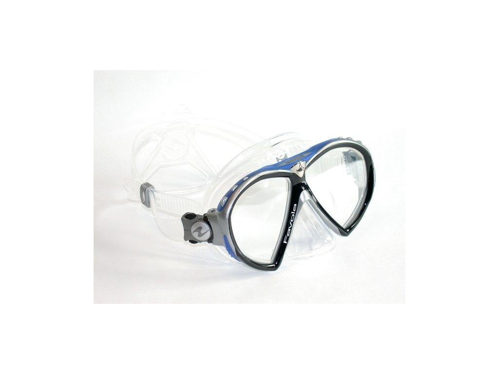 =VÝPRODEJ= Aqualung Technisub Favola, transparent silikon, námořní modrá
