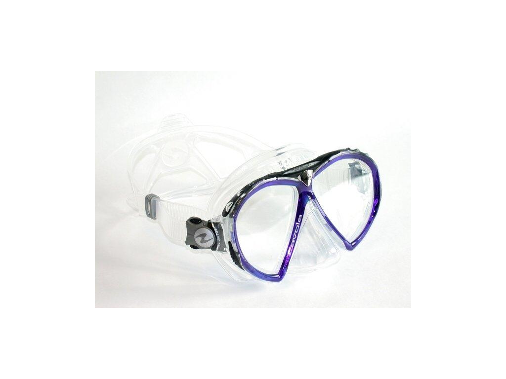 =VÝPRODEJ= Aqualung Technisub Favola, transparent silikon, fialová