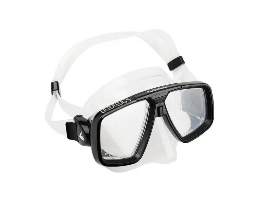 Aqualung Technisub LOOK, silikon, transparentní+černá+stříbrná
