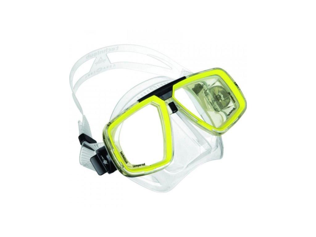 Aqualung Technisub LOOK, silikon, transparentní+žlutá lime