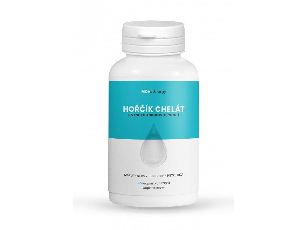 Hořčík B6 Chelát 100 mg, 90 veganských kapslí
