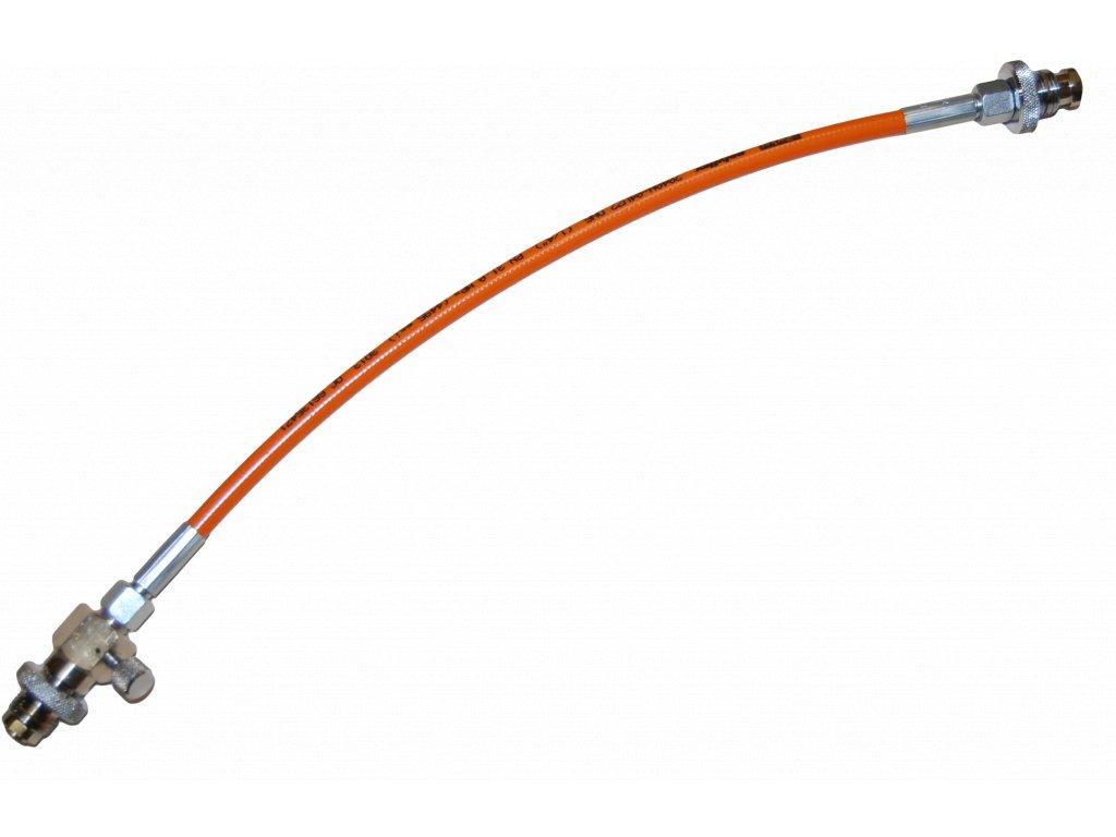 JTLine přepouštěcí hadice 0.5m, DIN - DIN, 200 bar, bez manometru