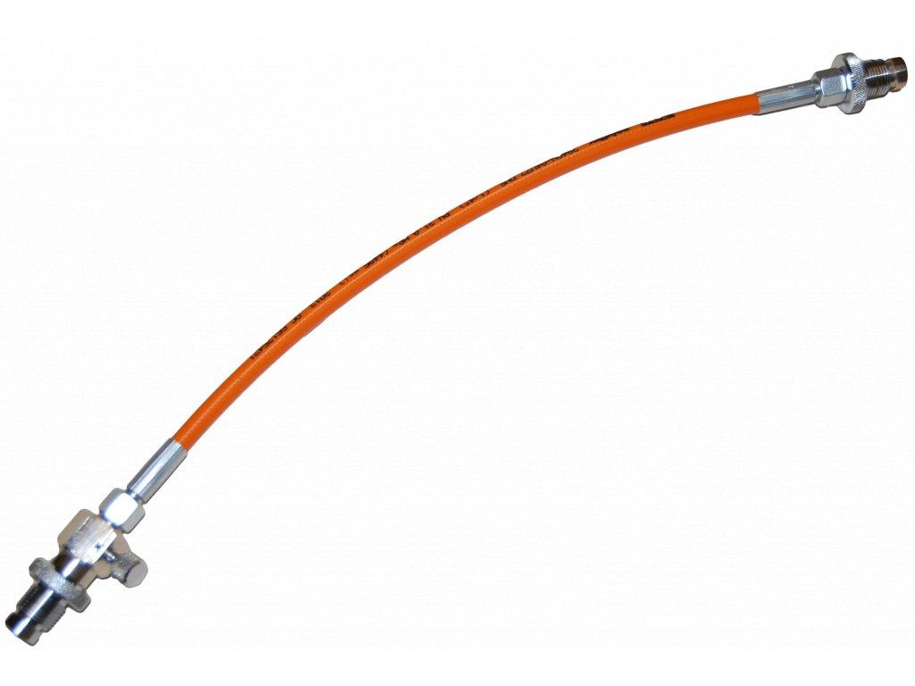 JTLine přepouštěcí hadice 1m, DIN - DIN, 300 bar, bez manometru