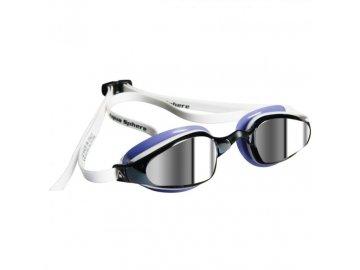 =VÝPRODEJ= Michael Phelps Aqua Sphere plavecké brýle K180 LADY, zrcadlový zorník, bílá/levandulová