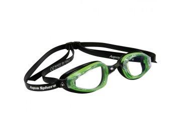 =VÝPRODEJ= Michael Phelps Aqua Sphere plavecké brýle K180+, čirý zorník, zelená/černá