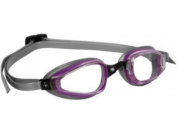 =VÝPRODEJ= Michael Phelps Aqua Sphere plavecké brýle K180+ LADY, čirý zorník, šedá/fialová