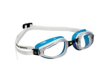 Michael Phelps Aqua Sphere plavecké brýle K180 LADY, čirý zorník, bílá/světle modrá