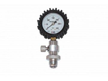 JTLine kontrolní manometr (plechový manometr) HP / DIN 200 bar - odpouštění šroubkem