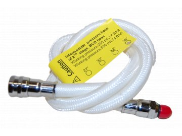 """=Výprodej= JTLine hadice LP k automatice, flexibilní, bílá, opletená, 68cm / 27"""", obdoba Miflex"""