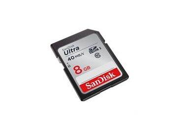 SanDisk SDHC ULTRA karta 8GB Class 10 (rychlost čtení až 40MB/s)