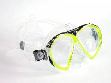 =VÝPRODEJ= Aqualung Technisub Favola, transparent silikon, žlutá lime