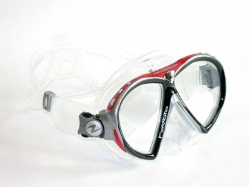 =VÝPRODEJ= Aqualung Technisub Favola, transparent silikon, červená
