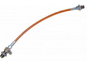 JTLine přepouštěcí hadice 1m, DIN - DIN, 200 bar, bez manometru