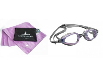 D675=VÝPRODEJ= Michael Phelps Aqua Sphere plavecké brýle K180 LADY + ručník KING SIZE MAGIC TOWEL