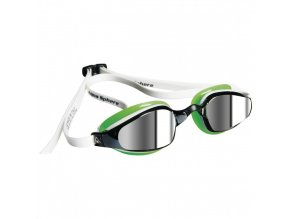 Michael Phelps Aqua Sphere plavecké brýle K180, zrcadlový zorník, bílá/zelená