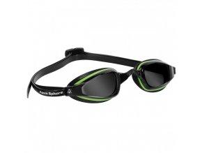 =VÝPRODEJ= Michael Phelps Aqua Sphere plavecké brýle K180+, tmavý zorník, zelená/černá