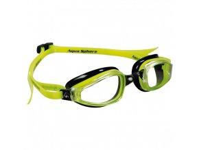 =VÝPRODEJ= Michael Phepls Aqua Sphere plavecké brýle K180, čirý zorník, černá/žlutá