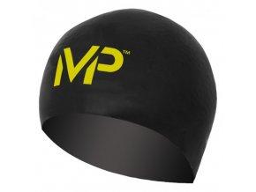 Plavecká čepice race cap černá žlutá