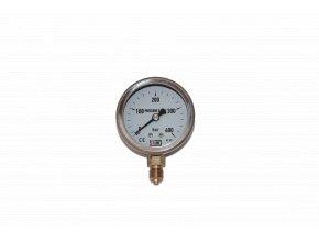 JTLine manometr průměr 63mm, stupnice 400 bar, nerez, kryt, odchylka 2%