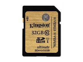 Kingston SDHC karta 32GB Class 10 UHS-I Ultimate 300x (90MB/s; 45MB/s)