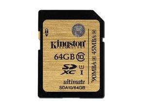 Kingston SDXC karta 64GB Class 10 UHS-I Ultimate 300x (90MB/s; 45MB/s)