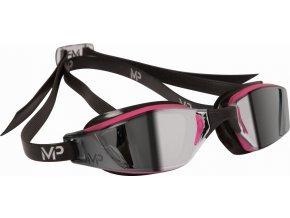 Michael Phelps Aqua Sphere plavecké brýle XCEED LADY, zrcadlový zorník, černá/růžová