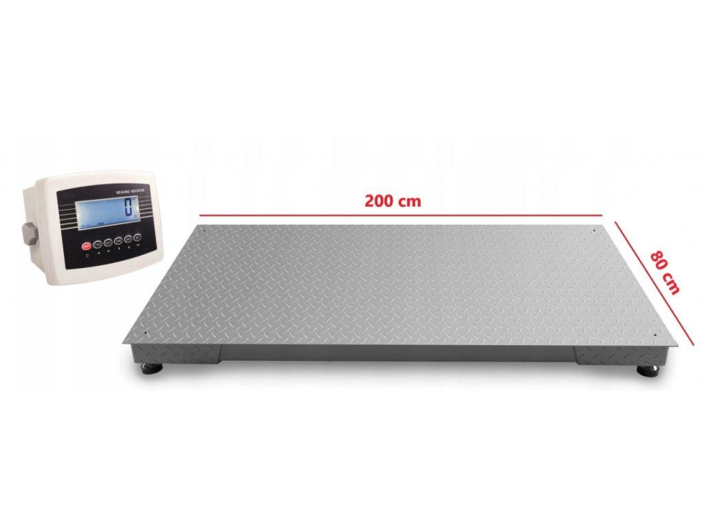 Podlahová váha do 5 000 kg 80x200 cm, LP7516