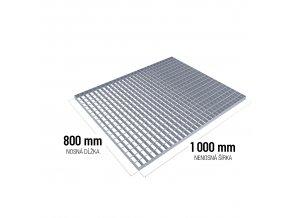 Zinkovaný rošt SP 30/2 - 34 x 38 mm - 800 x 1 000 mm