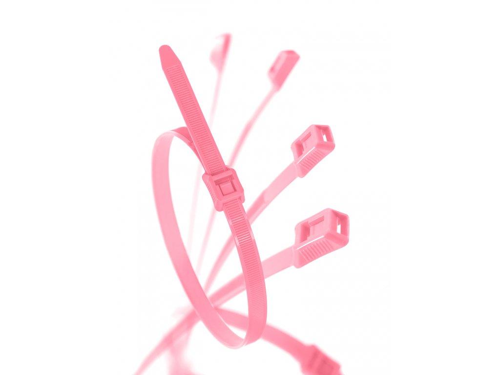 Stahovací páska pro dětská hřiště růžová obr. 1
