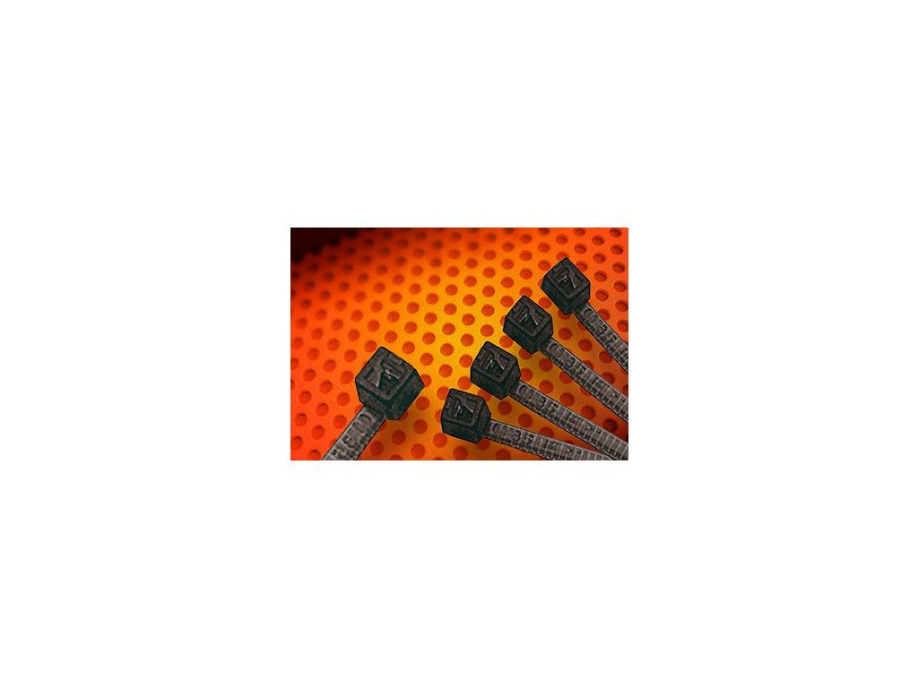 Stahovací páska vysokoteplotní černá