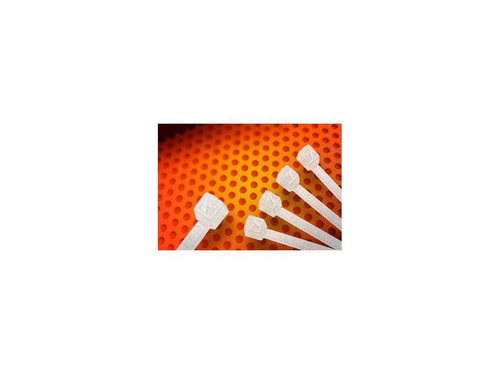 Stahovací páska vysokoteplotní bílá