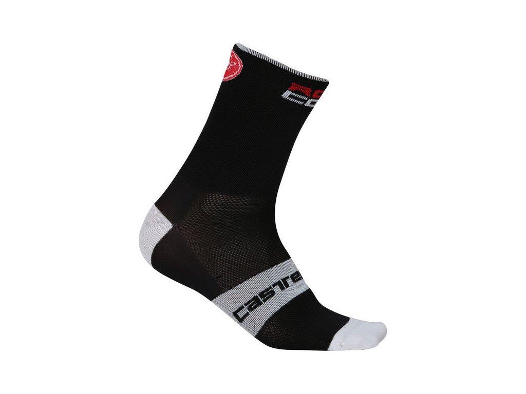 Cyklistické ponožky Castelli Rosso Corsa 9 cm 4517035-010