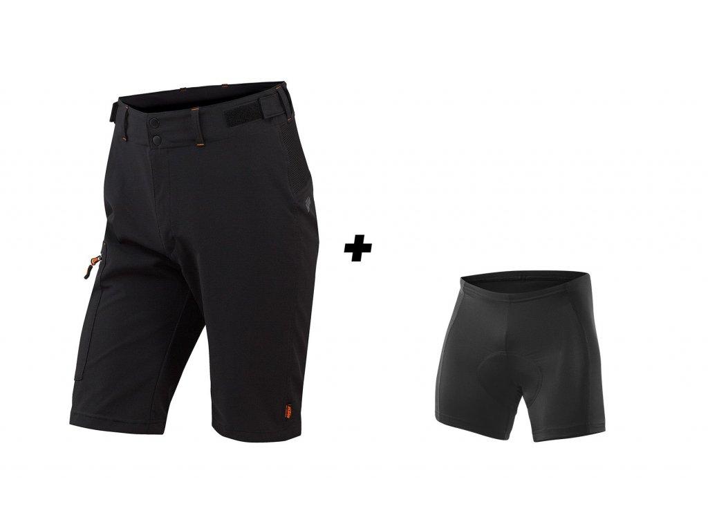 Cyklistické kraťasy KTM Factory Tour včetně vnitřních kalhot s vložkou 6592410