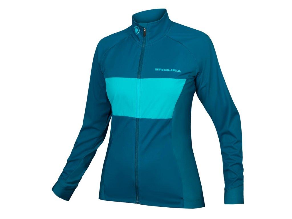 dámský cyklistický dres endura jFS260Pro Jetstream s dlouhým rukávem modrá 1