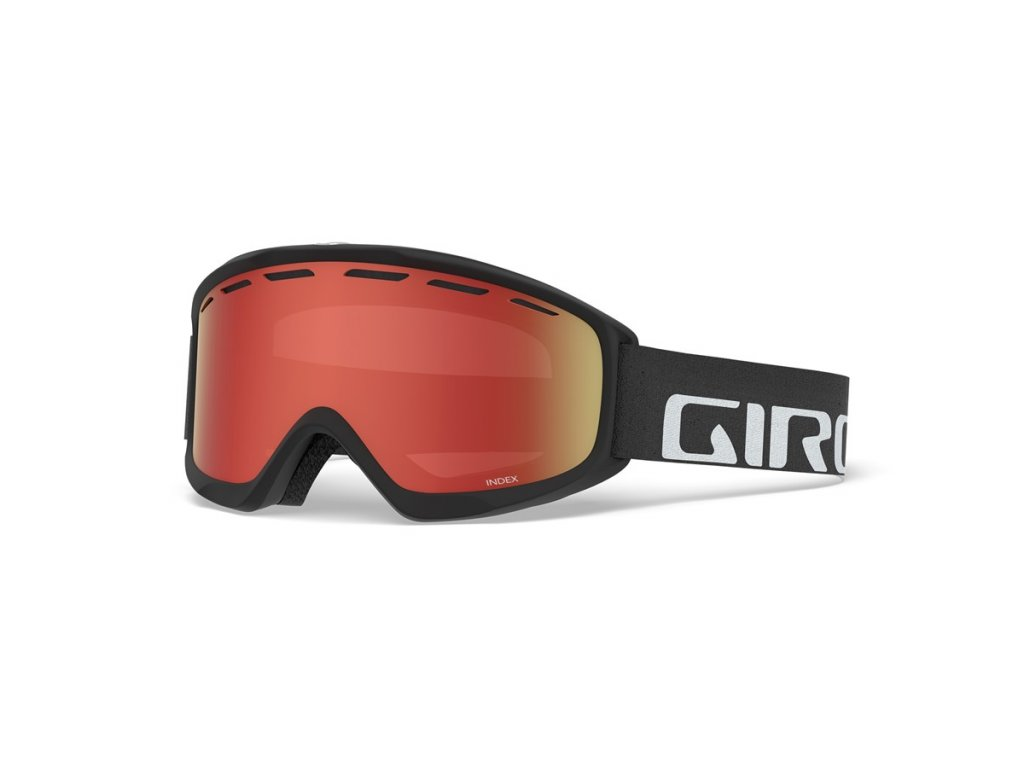 GIRO Index Black Wordmark Amber Scarlet 1