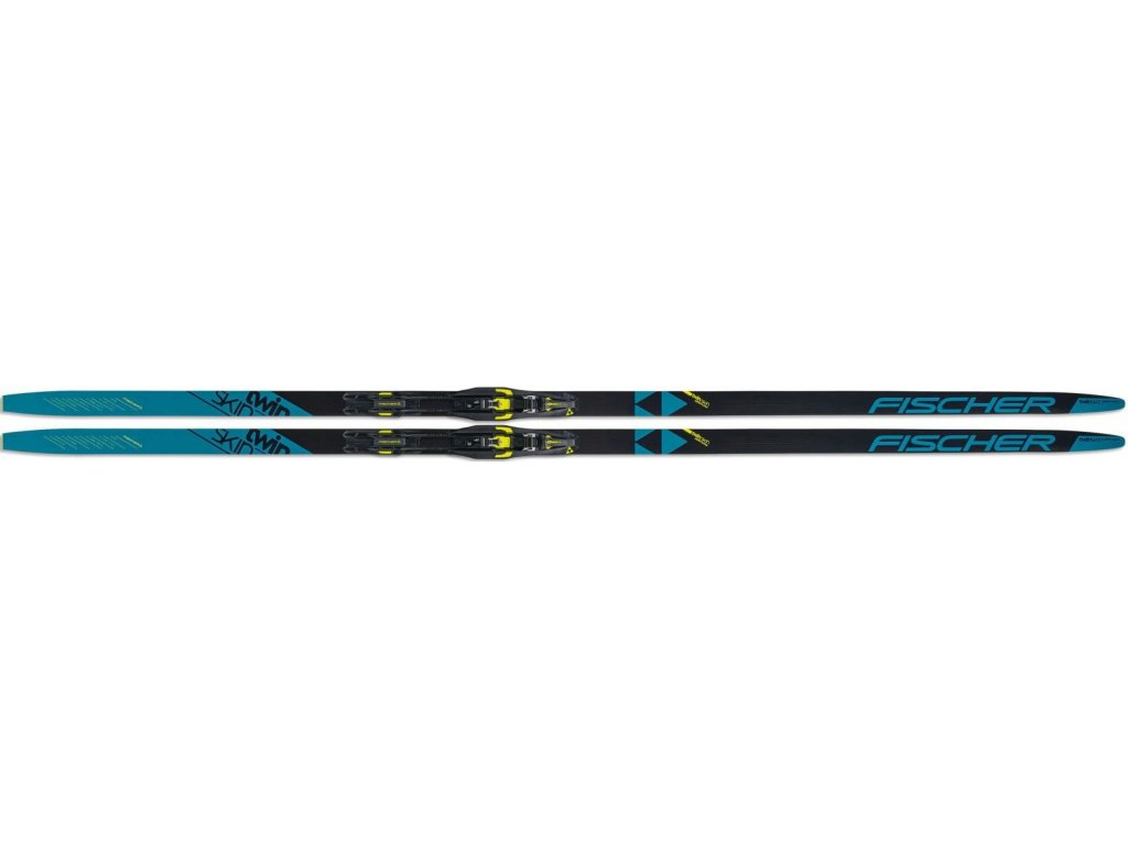 Běžecké lyže Fischer TWIN SKIN PERFORMANCE BLUE STIFF + CONTROL STEP