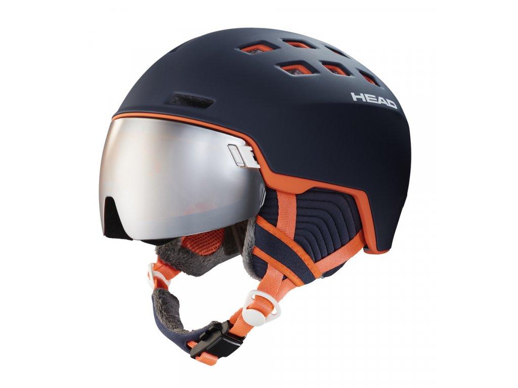 Lyžařská helma Head RACHEL blue/salmon