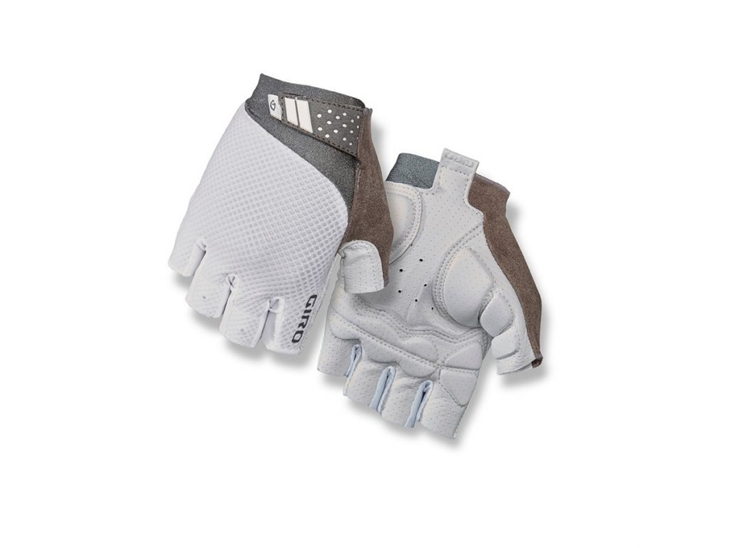 cyklistické rukavice GIRO Monica II White