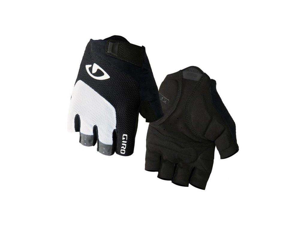 cyklistické rukavice GIRO Bravo White Black