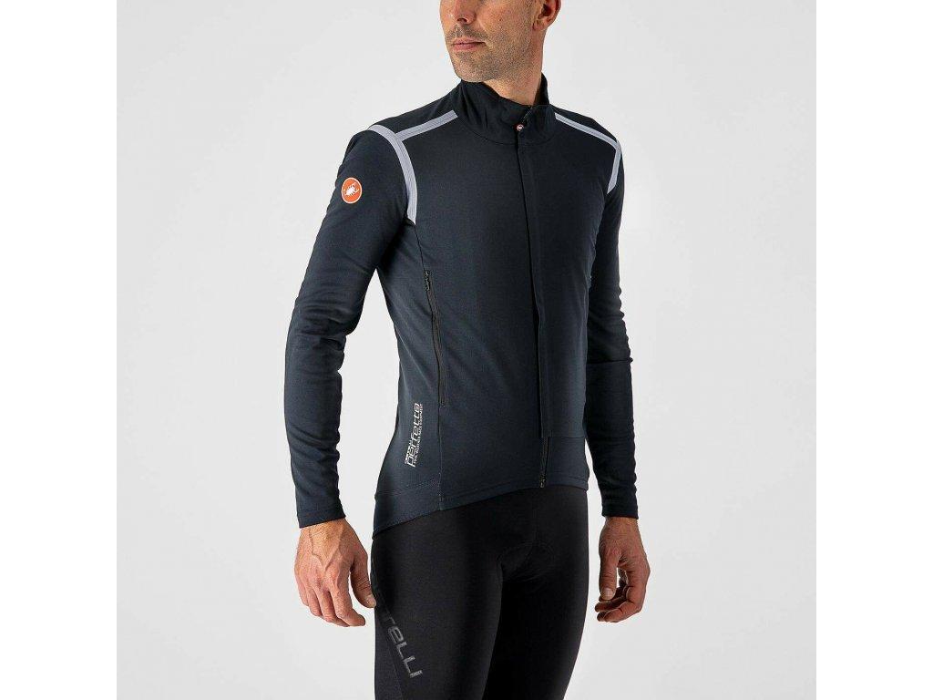 Cyklistická bunda Castelli Perfetto RoS Long Sleeve light black 1