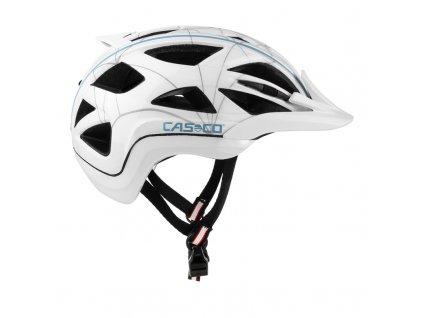 damska cyklisticka přilba CASCO ACTIV2 FEMME white blue Shiny 1