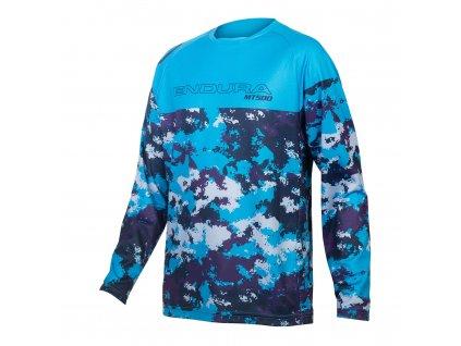 dětský cyklistický dres KIDS MT500JR LS JERSEY ELECTRIC BLUE 1